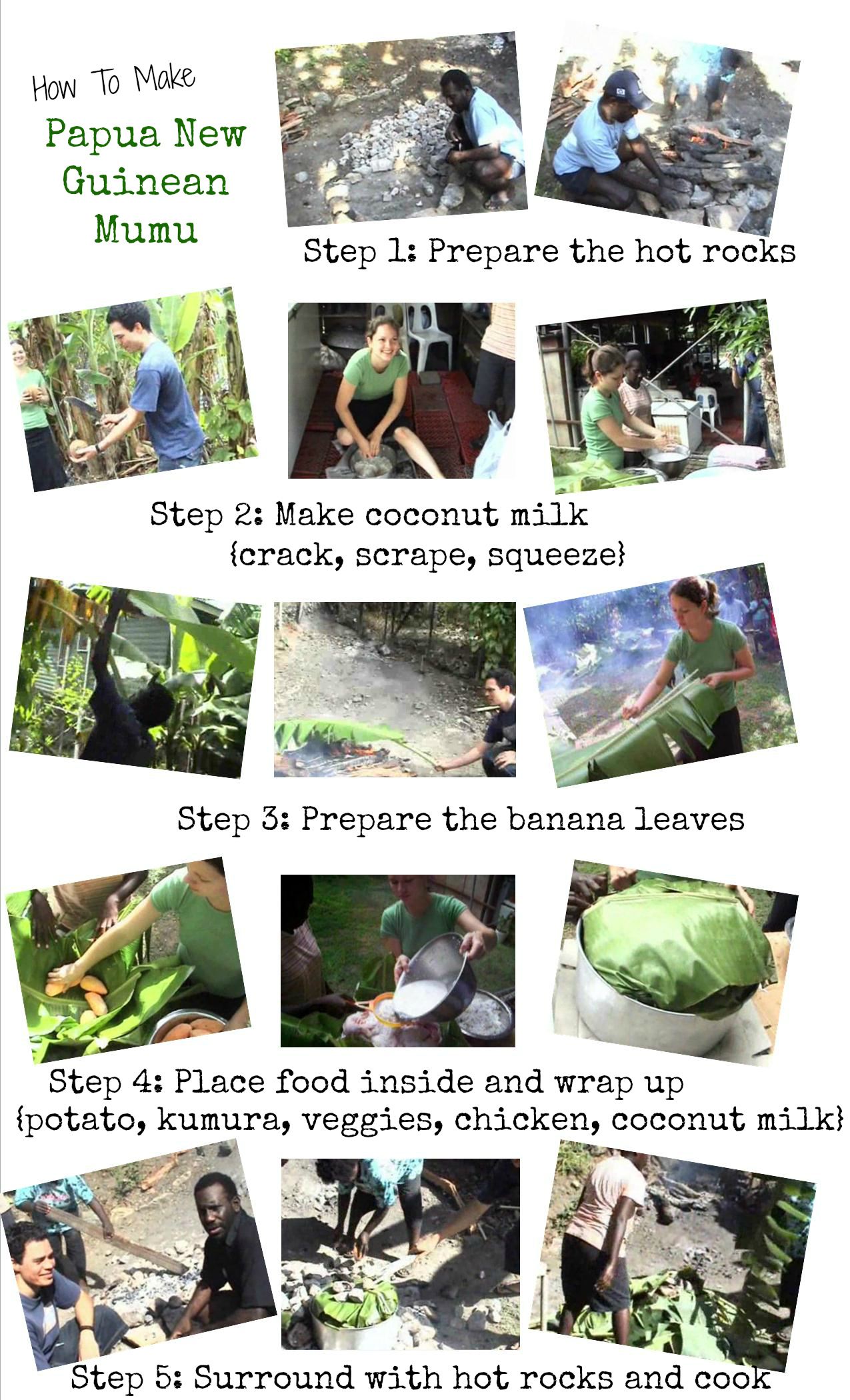 Cooking Series How To Make Papua New Guinean Mumu Creative World