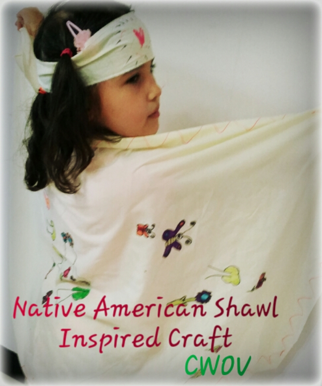 Native American Shawl Inspired Craft {NAHM 2015}