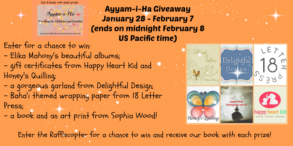 A Simple Glitter Hand Print Card Tutorial Plus Ayyam-i-Ha Giveaway!
